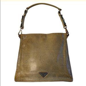 Prada Brocade leather bag